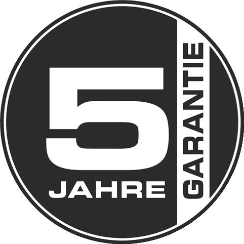5 Jahres Garantie