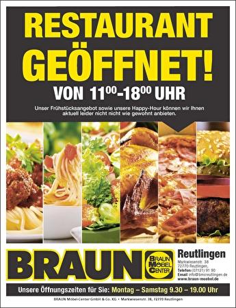 Bild der Aktion: Restaurant in Reutlingen ist geöffnet!