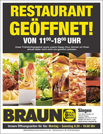 Bild der Aktion: Restaurant in Singen ist geöffnet!