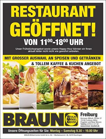 Bild der Aktion: Restaurant in Freiburg ist geöffnet!